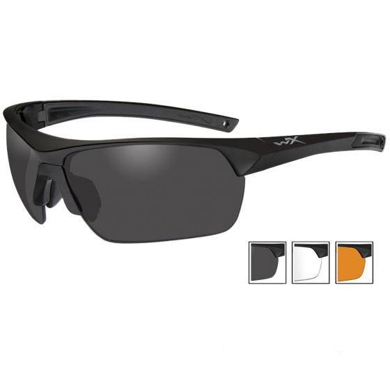 Wiley X Guard Advanced - Smoke Grey + Clear + Light Rust Lenses / Matte Black Frame