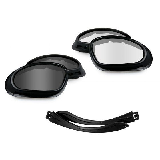 Wiley X SG-1 Goggles - Smoke Grey + Clear Lens / Matte Black Frame