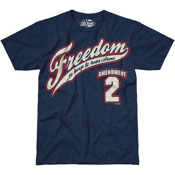 7.62 Design 2nd Amendment Freedom T-Shirt Navy Blue