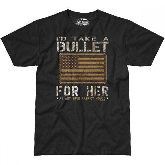 7.62 Design Bullet For Her T-Shirt Black