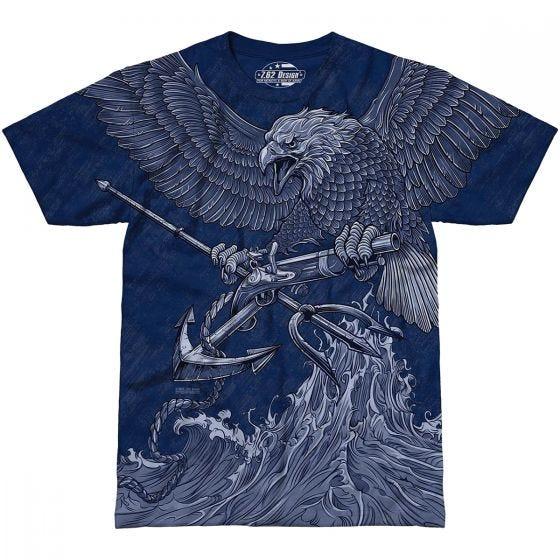 7.62 Design USN Seals Naval Special Warfare T-Shirt Navy Blue