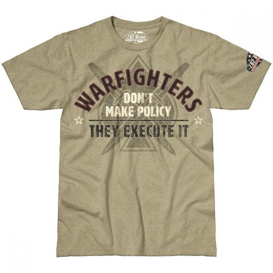 7.62 Design Warfighters Execute Policy T-Shirt Khaki Heather
