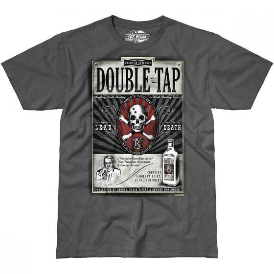 7.62 Design Double Tap T-Shirt Charcoal