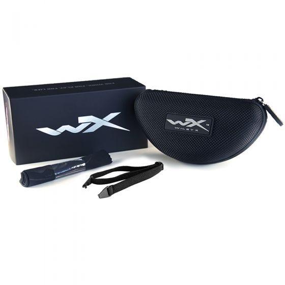 Wiley X WX Compass Glasses - Polarized Emerald Mirror Lens / Kryptek Neptune Frame