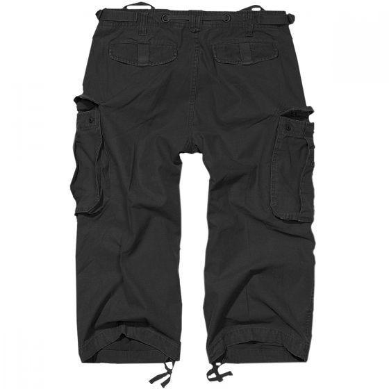 Brandit Industry Vintage 3/4 Shorts Black