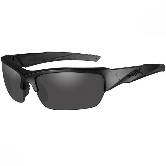 Wiley X WX Valor Glasses - Polarized Smoke Grey Lens / Matte Black Frame