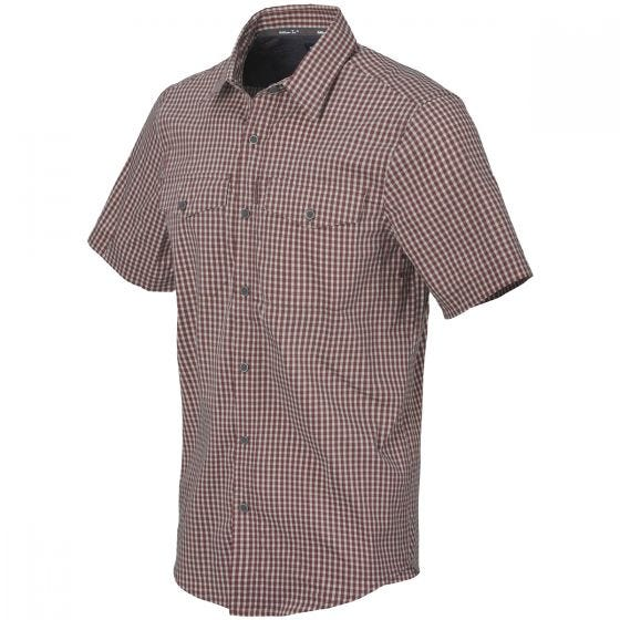 Helikon Covert Concealed Carry Short Sleeve Shirt Dirt Red Checkered