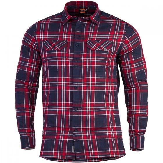 Pentagon Drifter Flannel Shirt Long Sleeve Red Checks