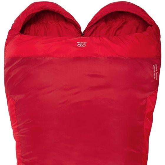 Highlander Serenity 300 Double Mummy Sleeping Bag Red