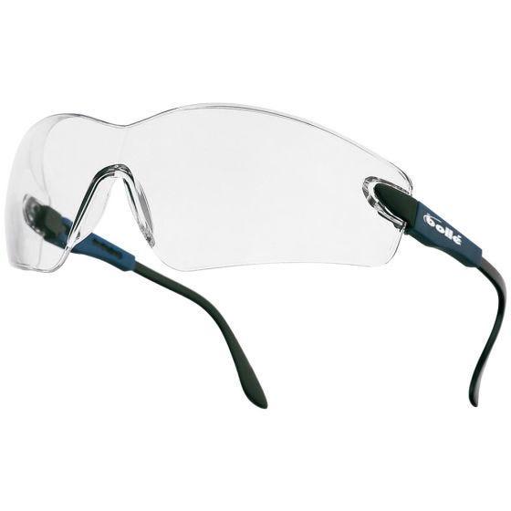 Bolle Viper II Glasses - Clear Lens / Electric Blue Frame
