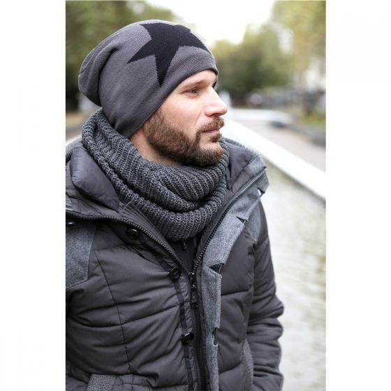 Brandit Scarf Loop Knitted Black