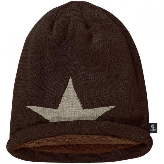 Brandit Beanie Star Cap Chocolate