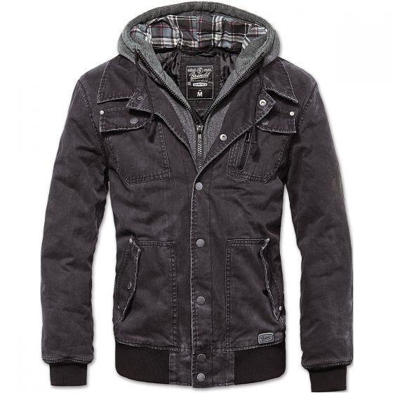 Brandit Dayton Jacket Black Washed