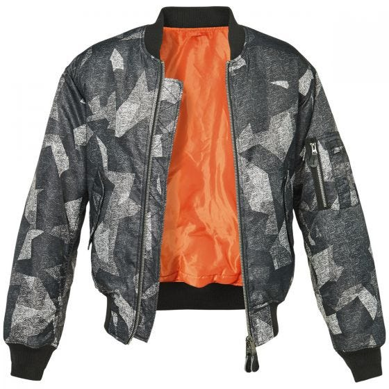 Brandit MA1 Camo Jacket Night Camo Digital