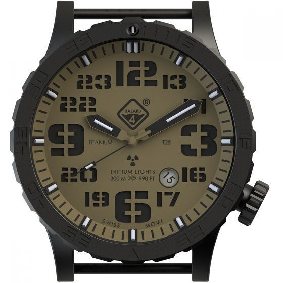 Hazard 4 Heavy Water Diver Titanium Tritium Watch Arid Green/Yellow