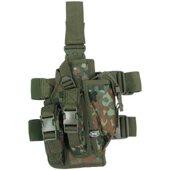 MFH Leg Holster with 3 Mag Pouches Flecktarn