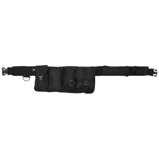 MFH Waist Belt 6 Pockets Black