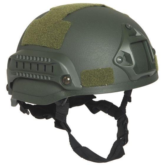 "Mil-Tec US Combat ""M.I.C.H. 2002"" Railed Helmet Olive"
