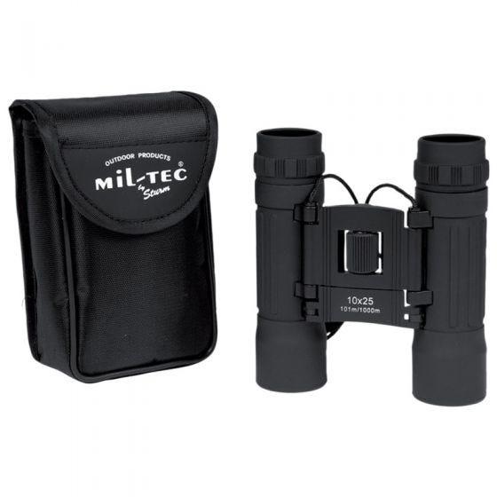 Mil-Tec Foldable Binocular 10x25 Black
