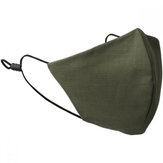 Mil-Tec Mouth/Nose Cover V-Shape Ripstop Olive