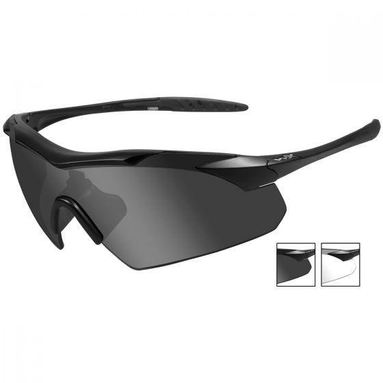 Wiley X WX Vapor Glasses - Smoke Grey + Clear Lens / Matte Black Frame