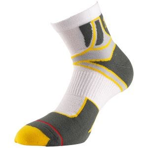 1000 Mile Cross Sport Sock White Yellow