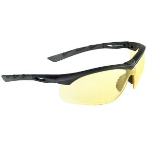 Swiss Eye Lancer Sunglasses - Yellow Lens / Black Rubber Frame