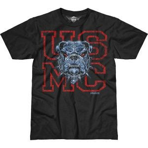 7.62 Design USMC Dress Blue Bulldog Battlespace T-Shirt Black