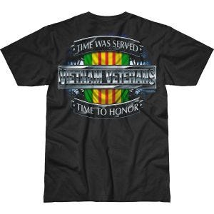 7.62 Design Vietnam Veterans Time Served Battlespace T-Shirt Black