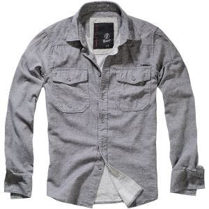 Brandit Tweedoptic Shirt Grey / Off-White