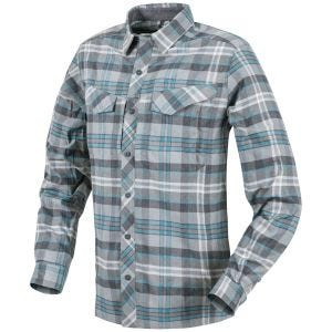Helikon Defender Mk2 Pilgrim Long Sleeve Shirt Blue Plaid