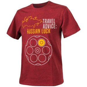 Helikon Travel Advice: Russian Luck T-shirt Melange Red