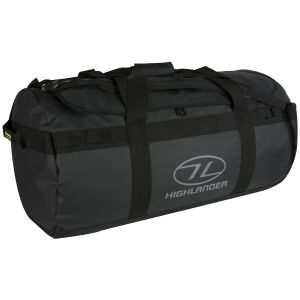 Highlander Lomond Tarpaulin 90L Duffle Bag Black