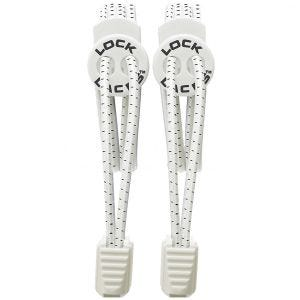 Lock Laces Elastic No Tie Shoelaces White