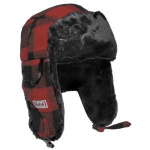 Fox Outdoor Lumberjack Fur Hat Red / Black