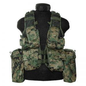 Mil-Tec South African Assault Vest Digital Woodland