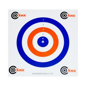 SMK Red White Blue 17cm Paper Targets (100 Pack)