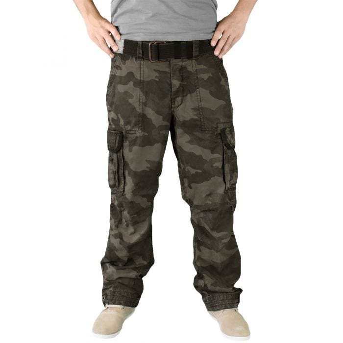 Surplus Premium Vintage Trousers Black Camo