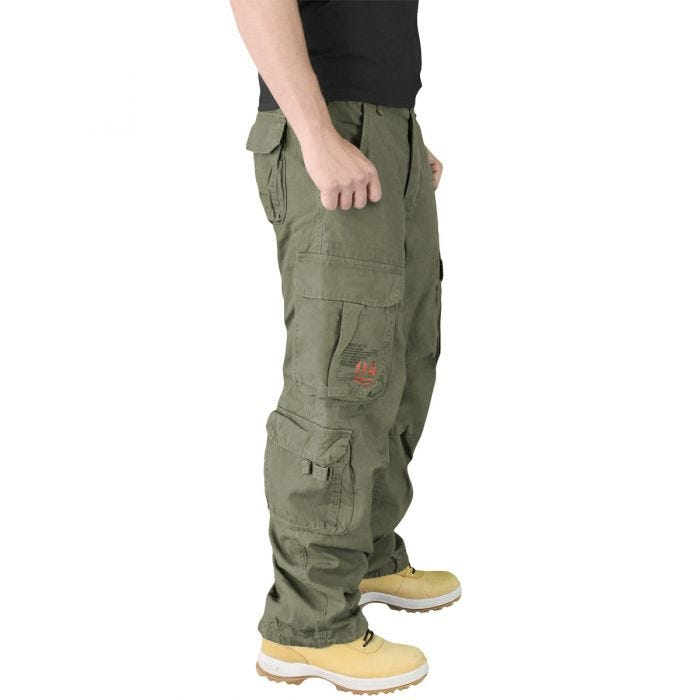 Surplus Airborne Vintage Trousers Olive