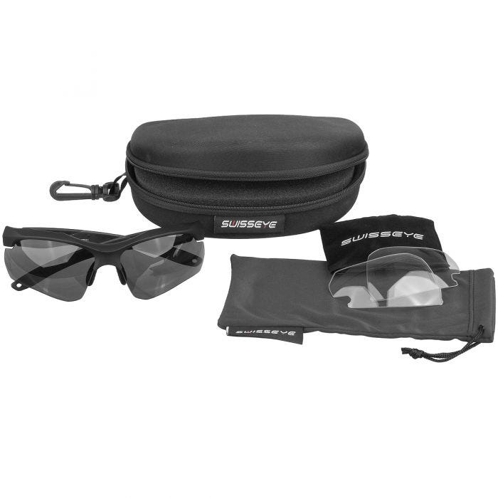 Swiss Eye Skyray Sunglasses - Smoke + Clear Lens / Black Rubber Frame