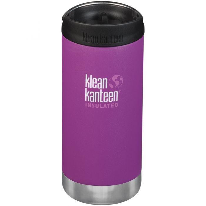 Klean Kanteen TKWide 355ml Insulated Bottle Cafe Cap Berry Bright