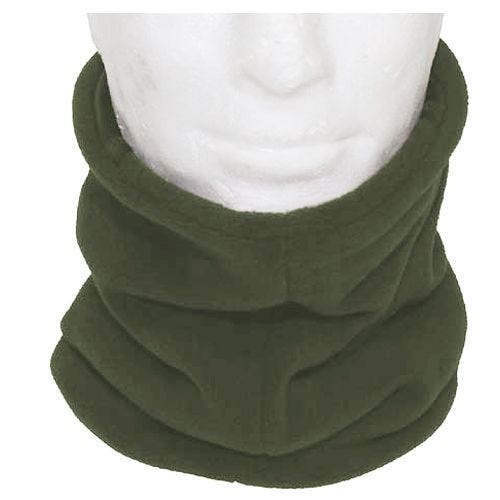 MFH Scarf Fleece with Head Section OD Green