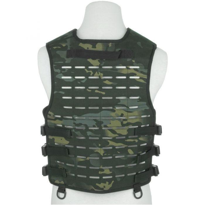 Mil-Tec Laser Cut Carrier Vest Multitarn Black
