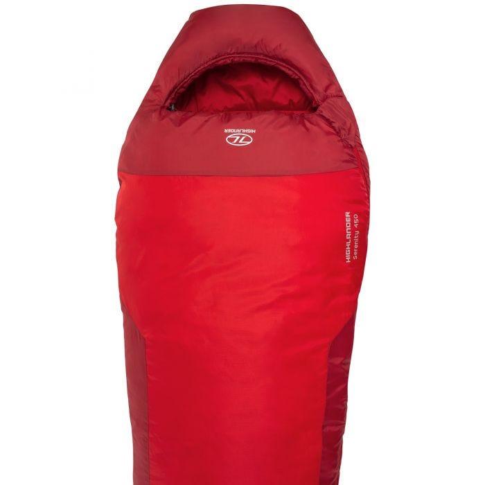 Highlander Serenity 450 Mummy Sleeping Bag Red