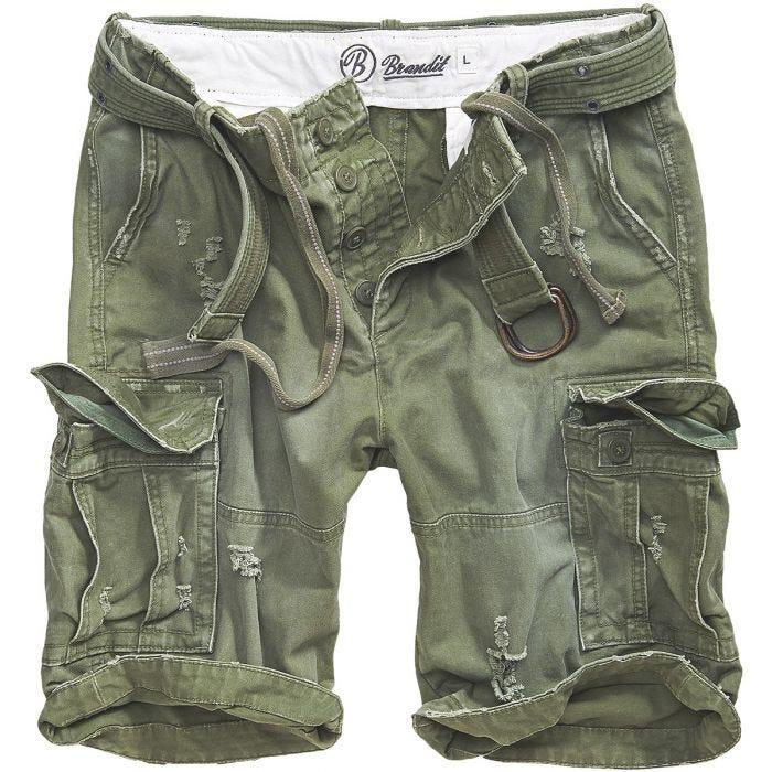 Brandit Shell Valley Heavy Vintage Shorts Olive