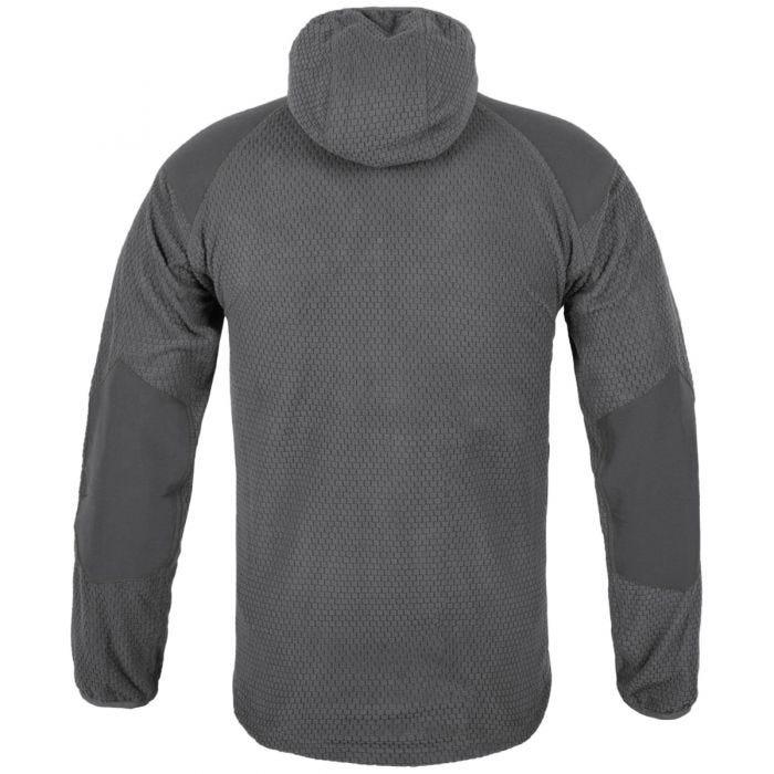 Helikon Alpha Hoodie Jacket Grid Fleece Shadow Grey