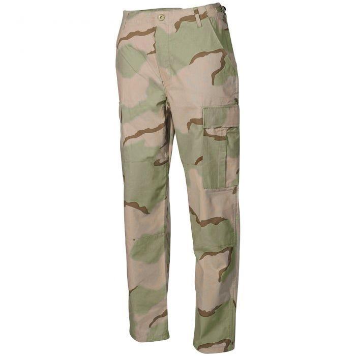 MFH BDU Combat Trousers Ripstop 3-Colour Desert