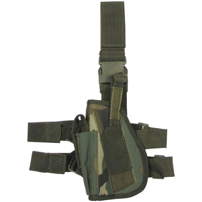 MFH Left Leg Holster Woodland Camo