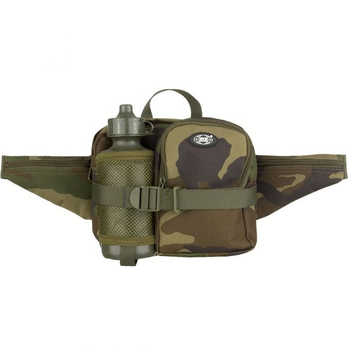 MFH Waist Bag with Bottle Woodland