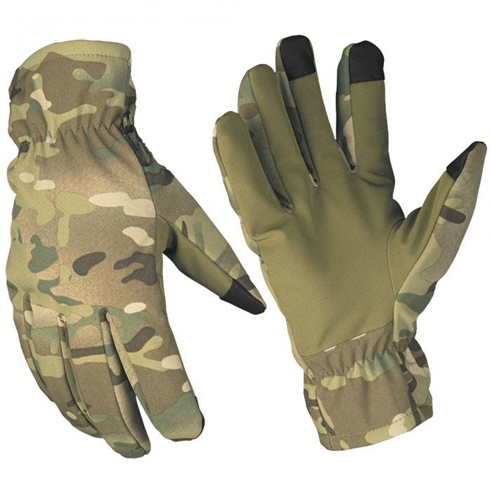 Mil-Tec Softshell Thinsulate Gloves Multitarn